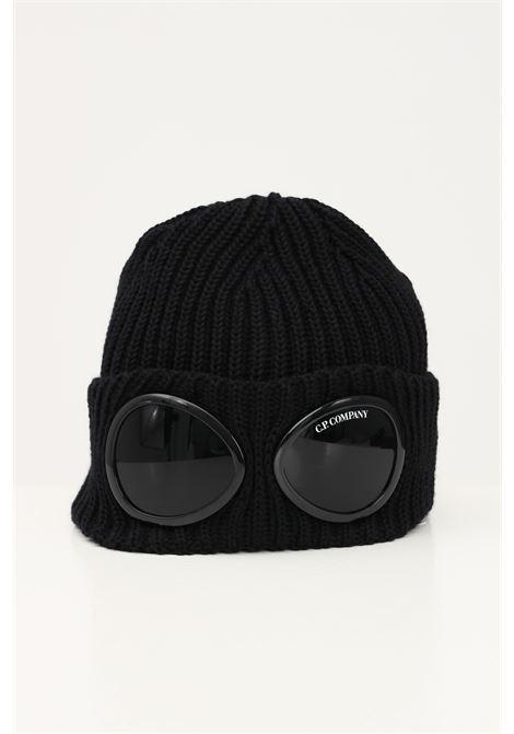 Black men's cap by cp company with distinctive lens C.P. COMPANY | Hat | 11CMAC122A-005509A999