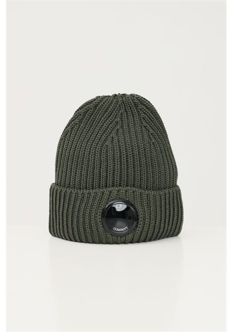Green men's hat by cp company with distinctive logo on the front C.P. COMPANY | Hat | 11CMAC272A-005509A665