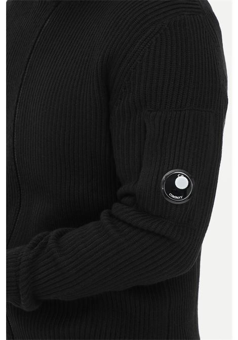 Black men's cardigan by C.P. Company with zip C.P. COMPANY | Cardigan | 11CMKN180A-005292A999