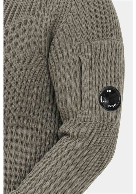Grey men's sweater by cp company, ribbed crew neck model C.P. COMPANY | Knitwear | 11CMKN181A-005292A665