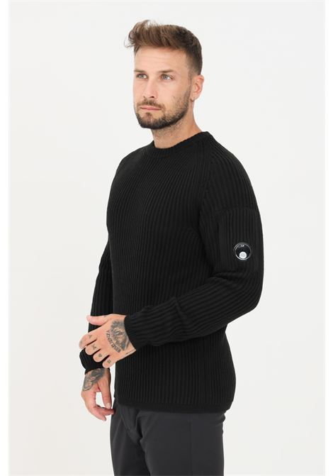Black men's sweater by cp company crew neck model C.P. COMPANY | Knitwear | 11CMKN181A-005292A999