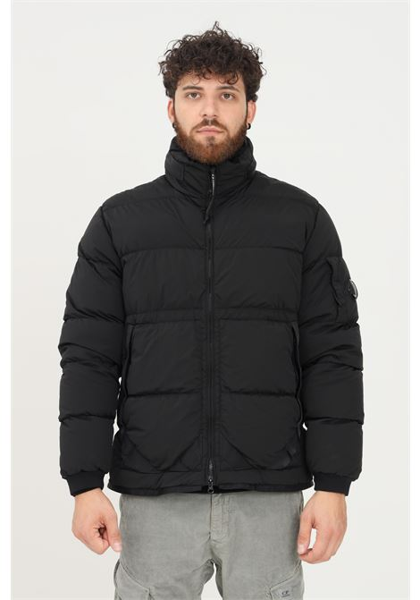 Black men's nycra r-down jacket by cp company  C.P. COMPANY | Jacket | 11CMOW170A-005864G999