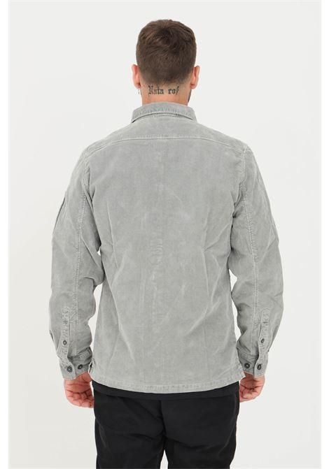 Grey men's shirt by C.P. Company ribbed model C.P. COMPANY | Shirt | 11CMSH324A-005899O917