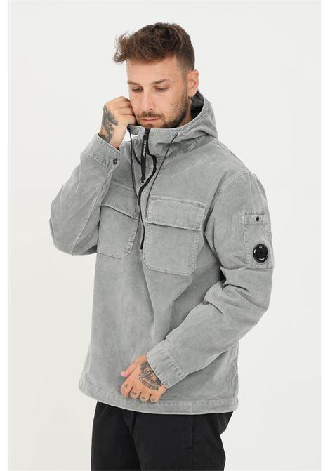 Grey men's jacket by cp company with half zip C.P. COMPANY | Jacket | 11CMSH325A-005899O917