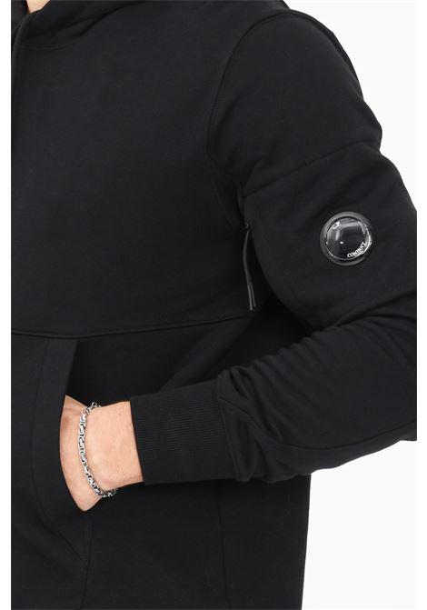 Black men's diagonal raised hoodie by CP Company C.P. COMPANY | Sweatshirt | 11CMSS056A-005086W999