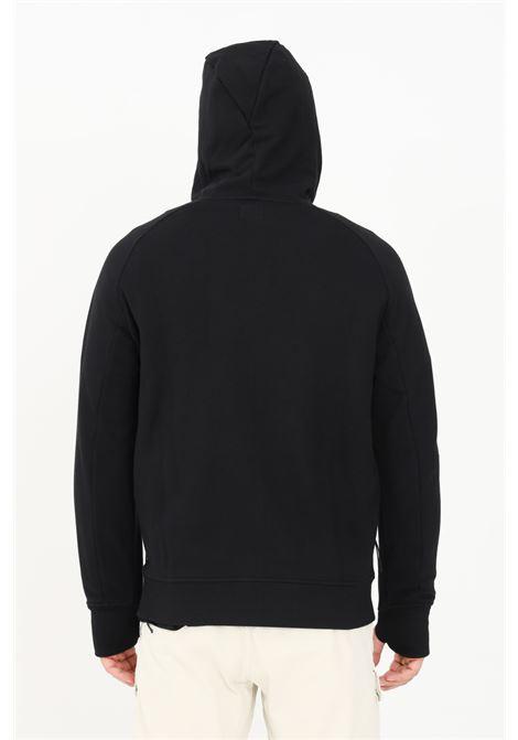 Black men's sweatshirt by CP Company with hood and lens C.P. COMPANY | Sweatshirt | 11CMSS166A-005086W999