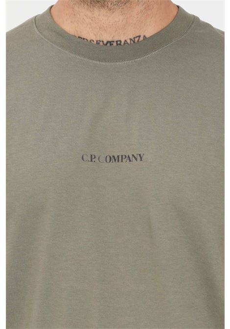 Grey men's t-shirt by cp company with logo detail C.P. COMPANY | T-shirt | 11CMTS213A-006011W665