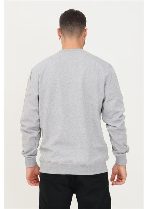 Felpa uomo grigio daily paper modello girocollo con ricamo logo a contrasto DAILY PAPER | Felpe | 193171GREY