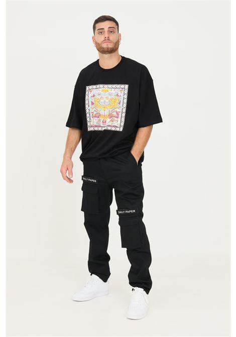 Pantaloni nero uomo daily paper modello cargo DAILY PAPER | Pantaloni | 2021176BLACK