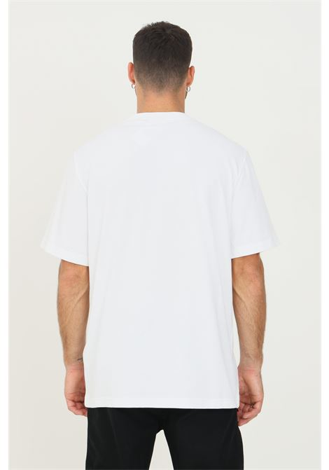 White men's t-shirt by daily paper with contrasting logo embroidery, short sleeve DAILY PAPER | T-shirt | 2021183WHITE
