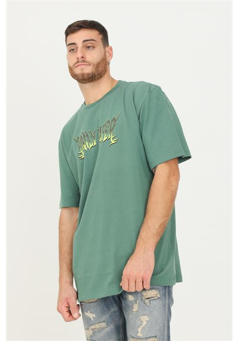 Green men's t-shirt by daily paper with print on the front, short sleeve DAILY PAPER | T-shirt | 2121012SMOKE PINE GREEN