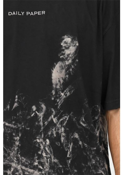 Printed men's t-shirt by daily paper with print, short sleeve DAILY PAPER | T-shirt | 2121026SMOKE BLACK