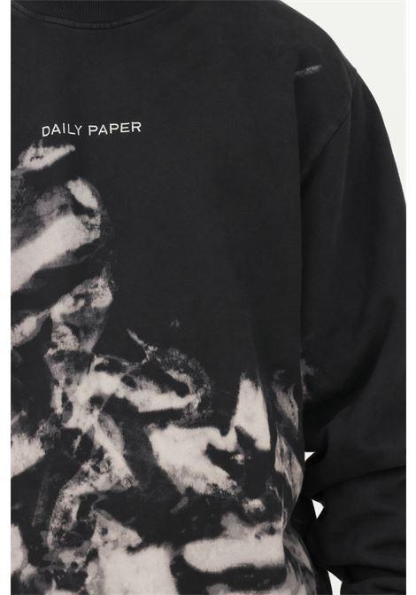 Felpa fantasia uomo daily paper modello girocollo con stampa DAILY PAPER | Felpe | 2121027SMOKE BLACK