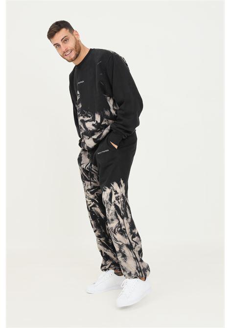 Pantaloni uomo fantasia daily paper modello casual con stampa DAILY PAPER | Pantaloni | 2121028SMOKE BLACK