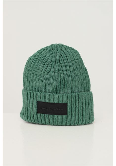Green unisex hat by daily paper with logo patch on the front DAILY PAPER | Hat | 2122044GREEN PINE