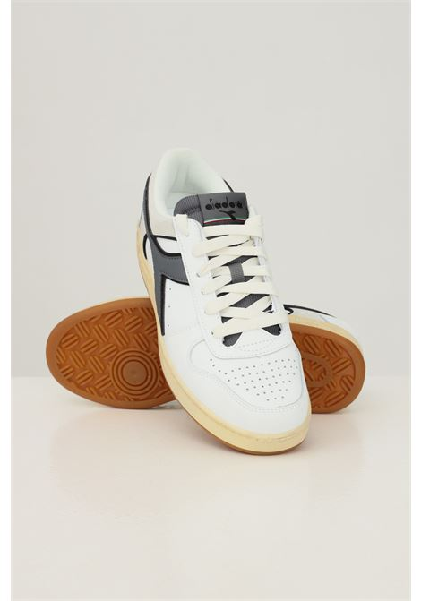 White men's magic basket low icona sneakers by diadora DIADORA   Sneakers   501.177730C5265