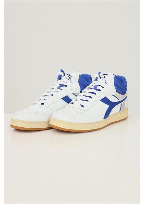 White men's magic basket denim cut sneakers by diadora DIADORA   Sneakers   501.178003C1938