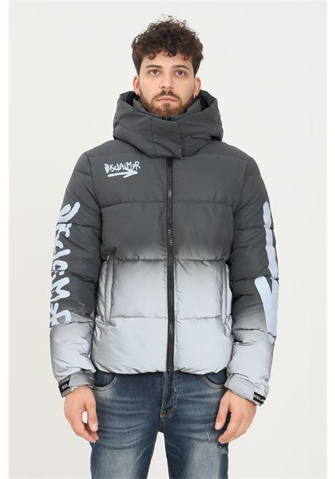 Piumino uomo grigio disclaimer con zip frontale e stampe DISCLAIMER   Giubbotti   21IDS50706NERO