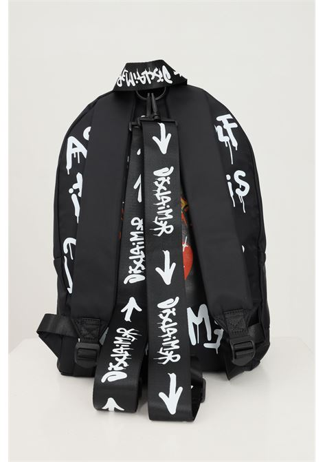 Unisex backpack by disclaimer with allover print DISCLAIMER | Backpack | 21IDS50737NERO