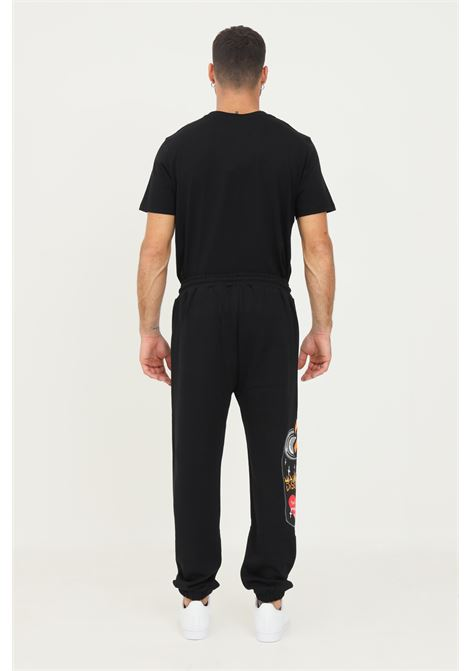 Black men's trousers by disclaimer, casual model with elastic waistband DISCLAIMER | Pants | 21IDS50762NERO
