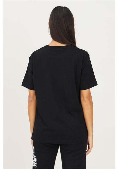 T-shirt donna nero disclaimer a manica corta con maxi stampa frontale DISCLAIMER | T-shirt | 21IDS50896NERO