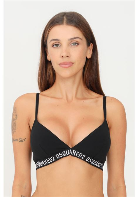 Black bra by dsquared2 in solid color with adjustable straps DSQUARED2   Bralette   D8R103720010