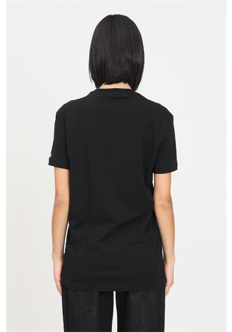 Black unisex t-shirt by dsquared2 with contrasting logo on the sleeve, short sleeve  DSQUARED2   T-shirt   D9M203610001