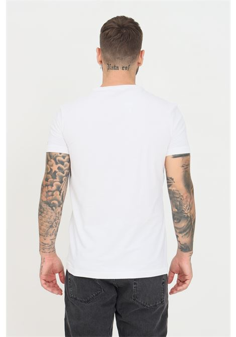 White unisex t-shirt by dsquared2 with contrasting logo on the sleeve, short sleeve  DSQUARED2   T-shirt   D9M203610100