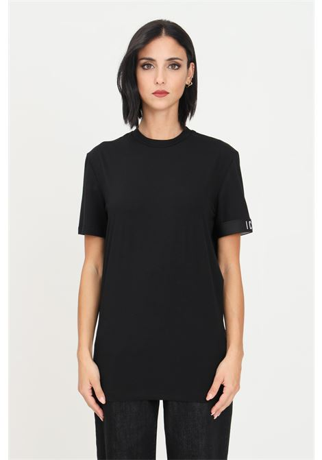 Black unisex t-shirt by dsquared2 with elastic band on the sleeve, short sleeve DSQUARED2   T-shirt   D9M3S3590001