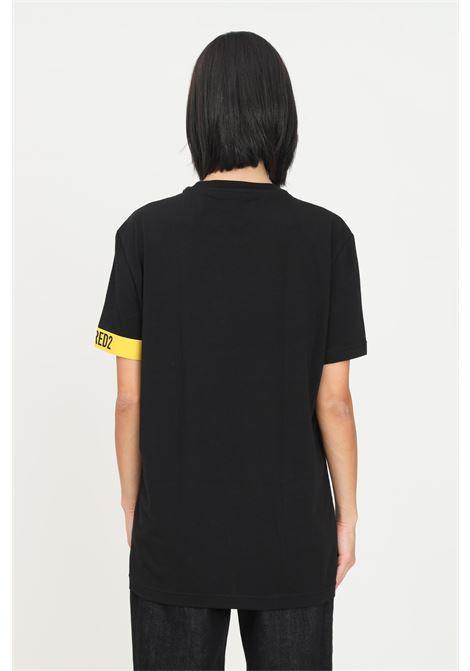 Black unisex t-shirt by dsquared2, short sleeve DSQUARED2   T-shirt   D9M3S3630001