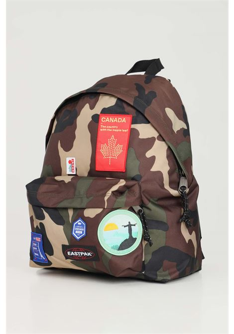 Military green unisex backpack with patch applications eastpak EASTPAK | Backpack | EK000620K521K521