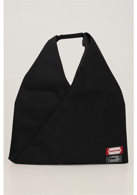 Black unisex shopper by eastpak maison margiela collab EASTPAK  X MM6 MARGIELA | Bag | EK0A5BATQ761Q761
