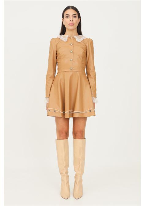 Mini abito con colletto in pizzo cammello elisabetta franchi ELISABETTA FRANCHI | Abiti | AB03418E2470