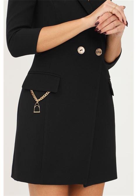 Abito giacca nero con accessorio staffa elisabetta franchi ELISABETTA FRANCHI | Abiti | AB07716E2110