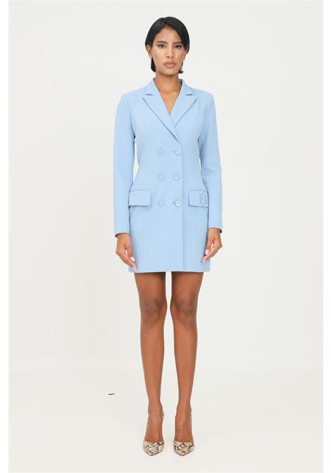 Abito donna azzurro elisabetta franchi modello corto ELISABETTA FRANCHI | Abiti | AB08916E2Q80