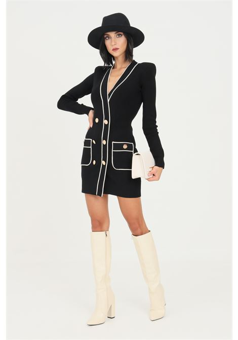 Black dress by elisabetta franchi knitted model ELISABETTA FRANCHI | Dress | AM35S16E2685