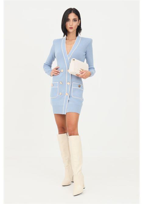 Light blue dress by elisabetta franchi knitted model ELISABETTA FRANCHI | Dress | AM35S16E2AB5