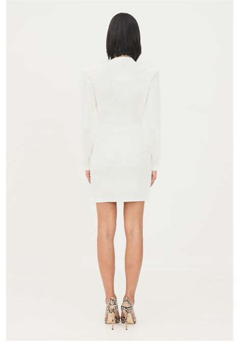 Ivory women's dress with long sleeves by elisabetta franchi  ELISABETTA FRANCHI | Dress | AM41S16E2360