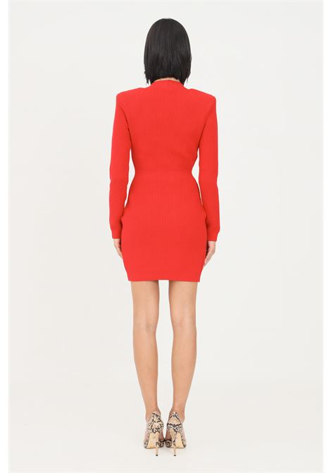 Red women's dress with long sleeves by elisabetta franchi  ELISABETTA FRANCHI | Dress | AM41S16E2D97