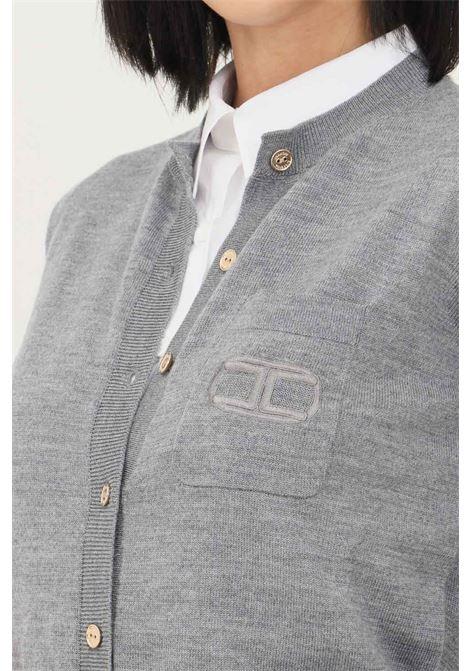 Body grigio elisabetta franchi modello elegante con bottoncini oro frontali ELISABETTA FRANCHI | Body | BK41A16E2044