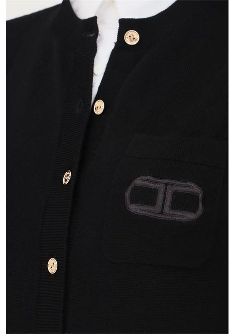 Body nero elisabetta franchi modello elegante con bottoncini oro frontali ELISABETTA FRANCHI | Body | BK41A16E2110