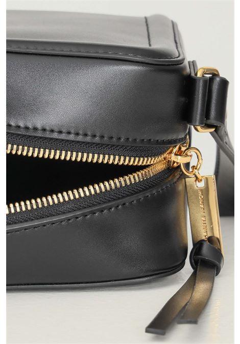Tracollina daily con placca logata oro da donna nero elisabetta franchi ELISABETTA FRANCHI | Borse | BS03A16E2110