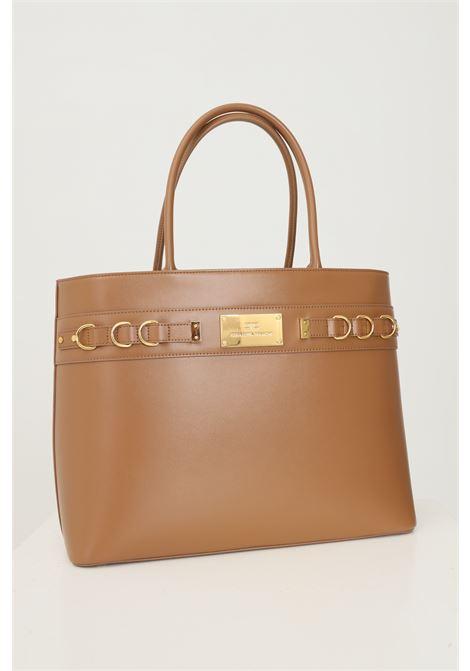 Shopper donna mou elisabetta franchi con placca logo oro ELISABETTA FRANCHI | Borse | BS04A16E2368