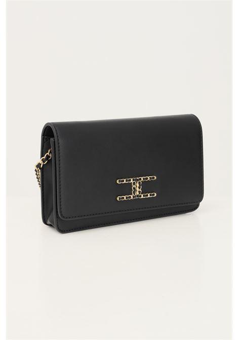 Black women's bag by elisabetta franchi with shoulder strap and gold clamp ELISABETTA FRANCHI | Bag | BS25A16E2110