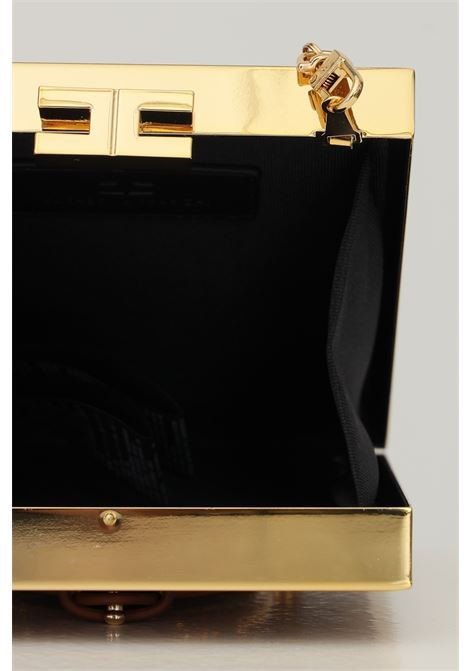 Clutch donna cuoio con design staffa elisabetta franchi ELISABETTA FRANCHI | Borse | BS35A18E2600