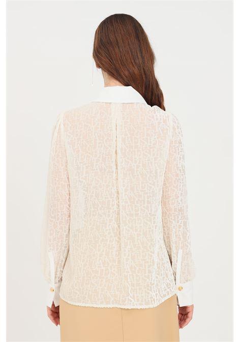 Camicia donna avorio elisabetta franchi elegante ELISABETTA FRANCHI | Camicie | CA30516E2360