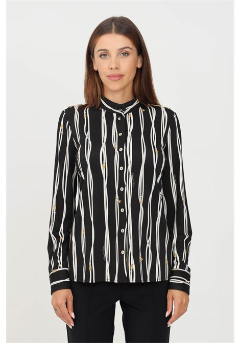 Camicia donna nero burro elisabetta franchi elegante ELISABETTA FRANCHI | Camicie | CA30716E2685
