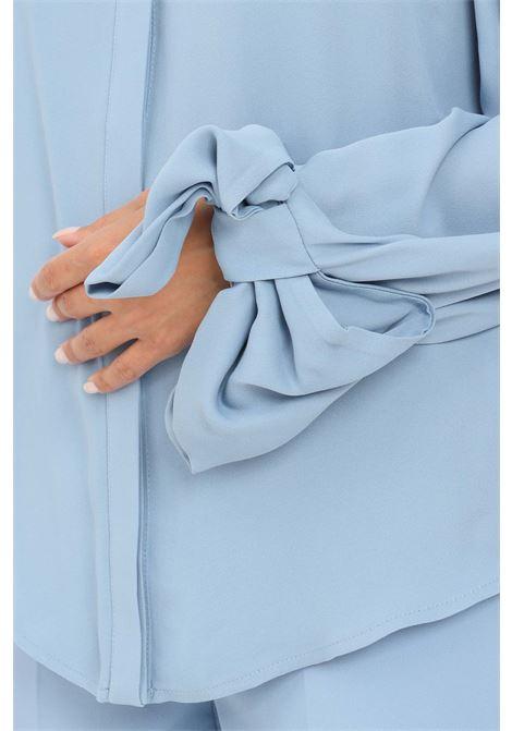 Camicia donna azzurro elisabetta franchi elegante ELISABETTA FRANCHI | Camicie | CA32216E2Q80