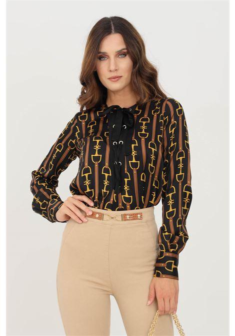 Camicia body donna nero elisabetta franchi elegante ELISABETTA FRANCHI | Body | CB00618E2722