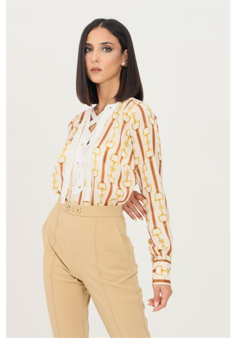 Camicia body donna burro elisabetta franchi elegante ELISABETTA FRANCHI | Body | CB00618E2Q99